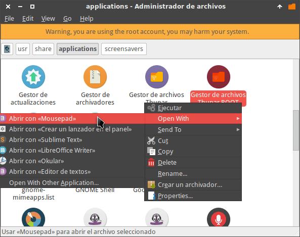 Edit file desktop linux